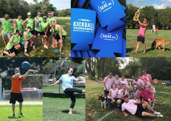Kickball tournament collage